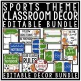 Sports Theme Classroom Decor: Newsletter Template Editable, Labels, Alphabet
