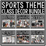 Sports Theme Classroom Decor - Editable Sports Class Decor Back to School