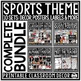 Sports Theme Classroom Decor - Editable Sports Classroom Theme Decor Bundle