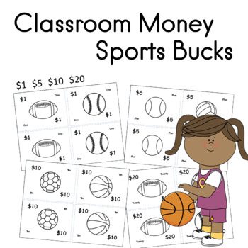 Sports Theme Class Money With Table Signs