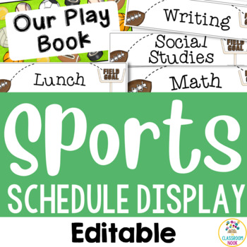 Sports Theme: Class Schedule Display (Editable)
