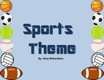 Sports Theme Classroom