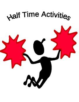 Sports Theme Classroom Anchor Activities/Half-Time Activities