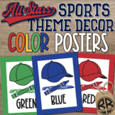 Sports Theme Classroom Decor Color Posters