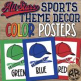Sports Theme Classroom Decor Color Posters