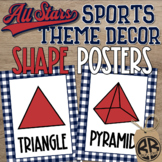 Sports Theme Classroom Decor Shape Posters