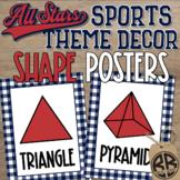 Sports Theme Classroom Decor Shape Posters