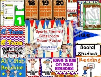 Sports Theme Classroom Decorations
