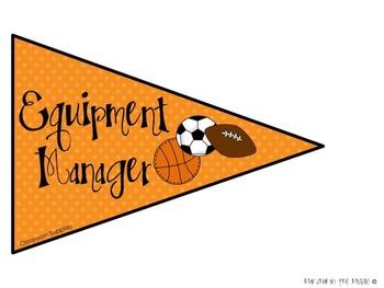 Sports Theme Classroom Jobs