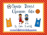 Sports Theme Classroom Jobs