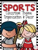 Sports Theme Classroom Kit EDITABLE