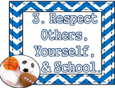 Sports Theme - Classroom Rules and Teacher Expectations