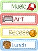 Sports Theme Classroom Schedule