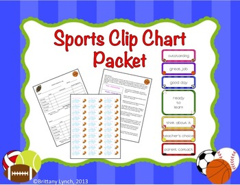 Sports Theme Clip Chart Packet (Editable)
