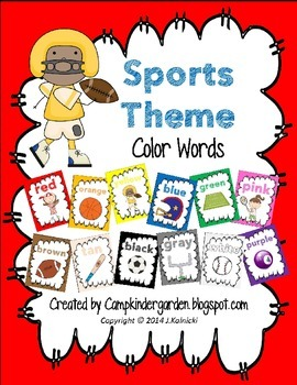 Sports Theme Color Posters