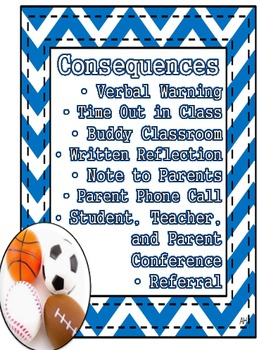 Sports Theme - Consequences for Behavior