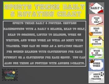 Sports Theme Daily 5 Rotation Chart