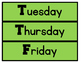 Sports Theme Days & Months English and Spanish