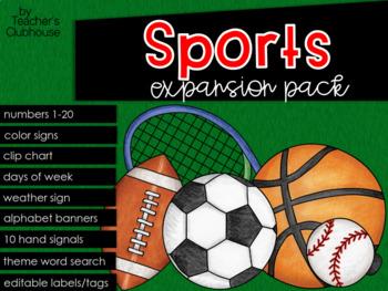 Sports Theme Decor {Expansion Pack}