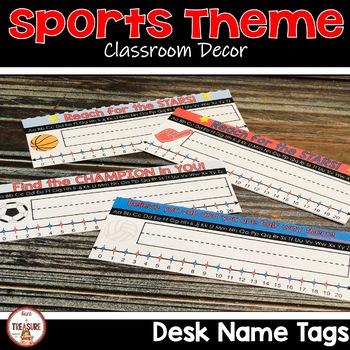 Sports Theme Classroom Decor Desk Name Tags