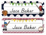 Sports Theme Desk Tags and Name Plates {Editable}