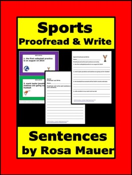 Editing Sports Task Cards
