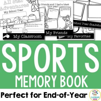 Sports Theme:  End-of-Year Memory Book