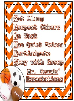 Sports Theme - GROUPS Rules and Expectations