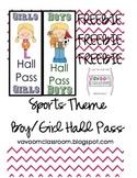 Sports Theme Hall Passes