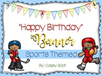 "Sports Theme ""Happy Birthday"" Banner"