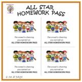 Sports Theme Homework Pass