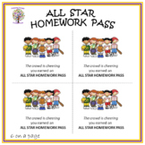 Sports Theme Homework Pass