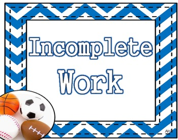 Sports Theme - Incomplete Work Poster