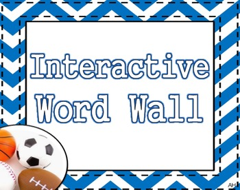 Sports Theme - Interactive Word Wall Poster