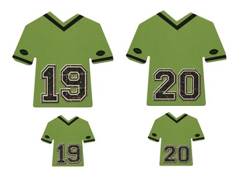 Sports Theme Jersey Student Numbers