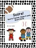 Sports Theme Magic E Board Game- Color and B&W