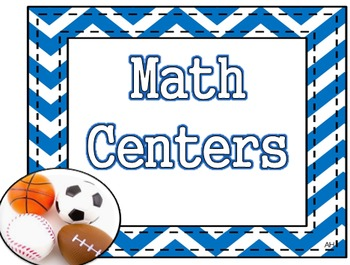 Sports Theme - Math Centers Poster