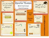 Sports Theme Motivation and Rewards Certificates