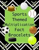 Sports Theme Multiplication Fact Bracelets