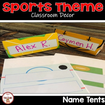 Sports Theme Name Tags-Table Tents