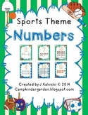 Sports Theme - Numbers 0-20