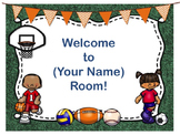 Sports Theme Open House ~ Back to School ~ PowerPoint Template {Editable Text}