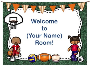 Sports Theme Open House ~ Back to School ~ PowerPoint Temp