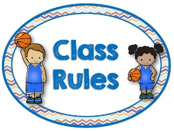 Sports Theme Oval or Rectangle Class Rules Posters