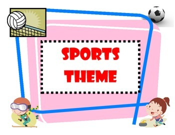 Sports Theme Packet