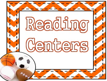 Sports Theme - Reading Centers Poster