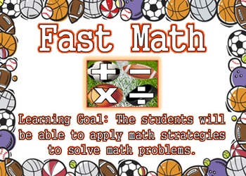 Sports Theme - Reading and Math Center Posters with Learning Goals