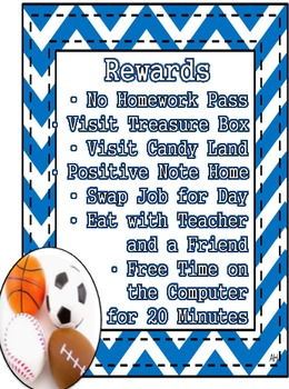 Sports Theme - Rewards and Incentives for Behavior