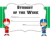 Sports Theme Student of the Week Certificate