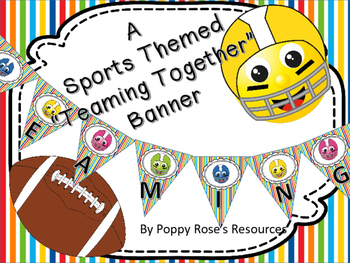 "Sports Theme ""Teaming Together"" Banner"